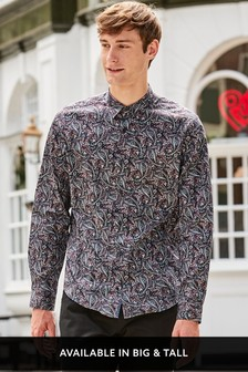 Regular Fit Long Sleeve Printed Shirt