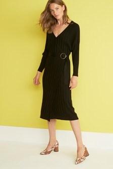Платье-джемпер с рукавами «летучая мышь»
