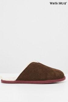 WhiteStuff麂皮綿羊毛拖鞋