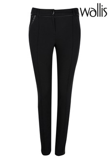 מכנסיים מבד פונטה שלWallis בגזרת פטיט בשחור