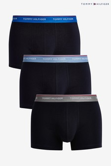 Tommy Hilfiger Blue Premium Essentials Trunks Three Pack