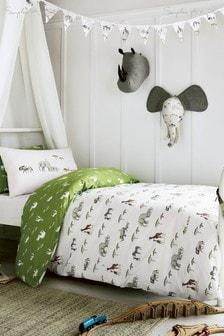 Sophie Allport Set aus Bett- und Kissenbezug mit Safaritier-Motiv