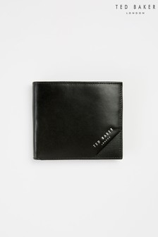 Ted Baker Prug Embossed Corner Leather Bifold Wallet With Coin