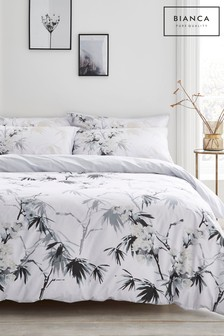 Bianca Kyoto Oriental Floral Cotton Duvet Cover And Pillowcase Set
