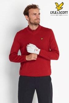 Lyle & Scott Golf Marl V-Neck Merino Jumper