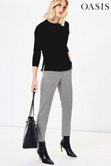 Oasis Multi Dogtooth Cigarette Trousers