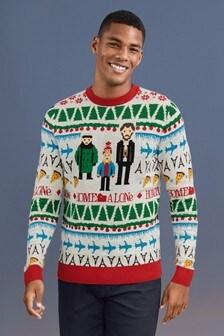 """Sweter z okrągłym dekoltem """"Home Alone"""""""