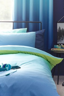 Textured Ombre Duvet Cover and Pillowcase Set