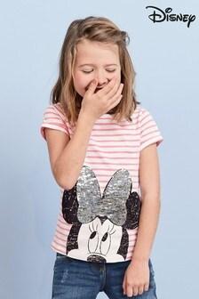 Tričko s krátkymi rukávmi s flirtovanou aplikáciou Minnie Mouse™ (3 – 16 rok.)