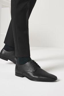 Derbyschoenen met textuur