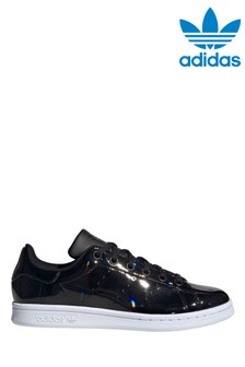 adidas Originals Black/White Stan Smith Youth Trainers