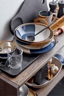 Bloomingville Grey/Multi Jules Stoneware Serving Plate