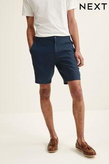 Elasticated Waistband Linen Shorts