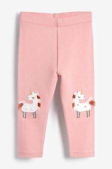 Unicorn Embroidered Leggings (3mths-7yrs)