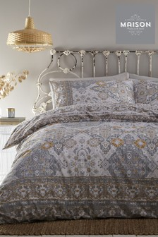 Maison Exclusive To Next Macey Tile Geo Duvet Cover and Pillowcase Set