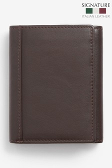 Signature Italian Leather Extra Capacity Trifold Wallet