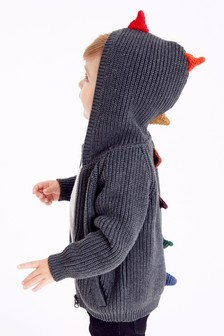 Dino Spike Zip Through Cardigan (3mths-7yrs)