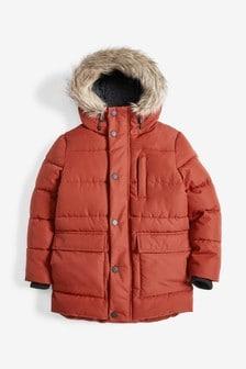Długi ocieplany płaszcz (3-16 lat)