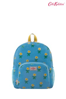 Cath Kidston Petal Flowers Grey Kids Classic Large Backpack With Mesh Pocket