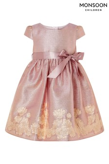 Monsoon Baby Kleid mitJacquard-Bordüre