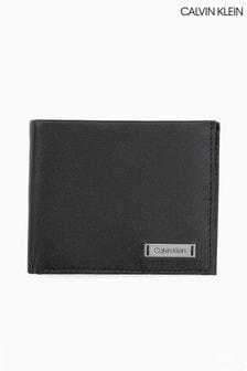 Calvin Klein Smooth Plaque Slim Bifold Wallet