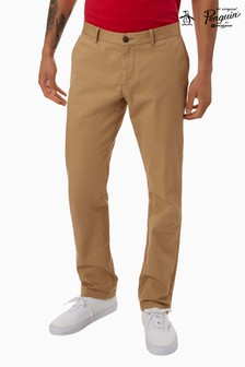 Pantaloni chino Original Penguin® Premium slim fit din material stretch