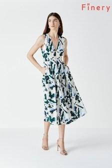 فستان مطبوع Henslowe أبيض من Finery
