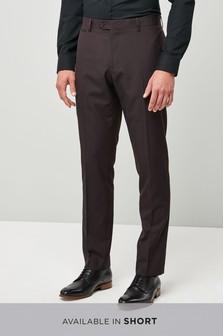Slim Fit Check Shawl Tuxedo Suit: Trouser