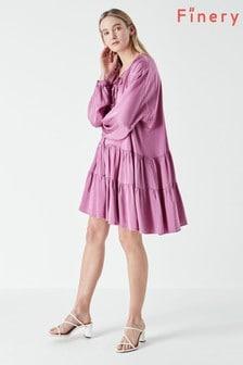 Finery Purple Leighton Mini Dress