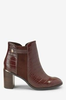 Block Heel Boots