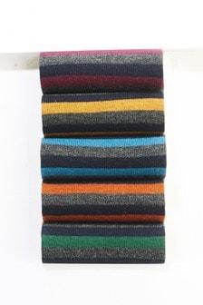 Набор из пяти пар меланжевых носков в полоску