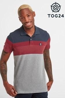 Tog 24 Red Ramsden Mens Stripe Poloshirt