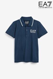 EA7 Navy Logo Poloshirt
