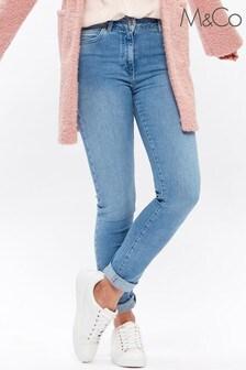 جينز أزرق برجل تلبيس رشيق منM&Co