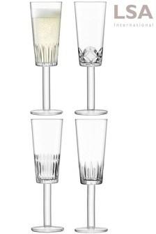 סט של 4 כוסות לשמפניה שלLSA International דגם Tatra