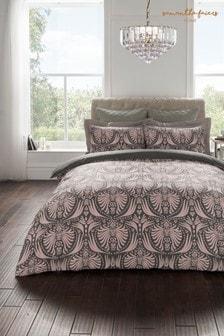 Bawełniana poszwa na kołdrę i poduszkiSam Faiers Myrtle, z geometrycznym wzorem