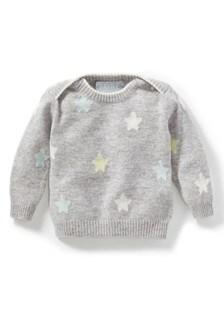 سترة للأطفال الرضع رمادي كشمير من Pure Collection