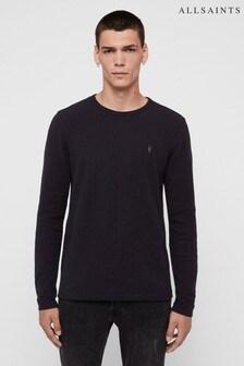 AllSaints Sweatshirt mit Strukturen, Marineblau