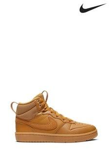 נעלי ספורט של Nike דגם Court Borough Mid Junior בחום בהיר