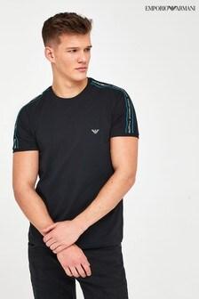 Emporio Armani Loungewear Tape Detail T-Shirt