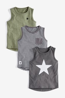 Star Vests Three Pack (3mths-7yrs)