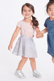 Комплект из юбки и футболки с кроликом (3 мес.-7 лет)