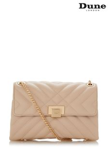 Dune London Nude Dorchester Small Quilted Shoulder Bag