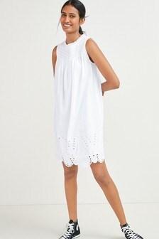 Sleeveless Broderie Dress