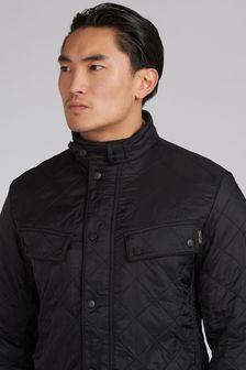 Barbour® International Black & Navy Blue Ariel Polar Quilted Jacket