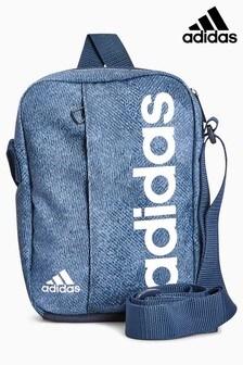 adidas Blue Marl Linear Bag