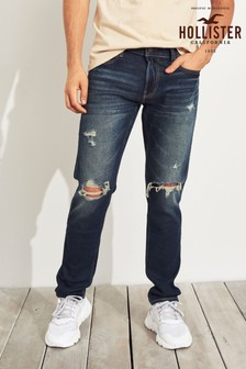 Hollister Dark Wash Ripped Skinny Jean