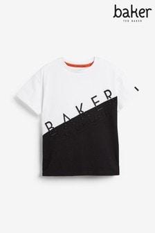 Camiseta con paneles cosidos multicolor y diseño unisex de Baker by Ted Baker
