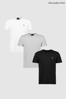 Abercrombie & Fitch Icon Crew Neck Tee Three Pack
