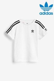 adidas Originals Little Kids White Lock Up T-Shirt